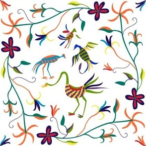 Otomi Birds_white