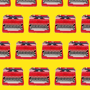 typewriter yellow background-ch-ed-ed