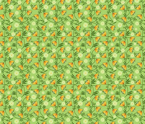 Art Deco Flowers fabric by vinpauld on Spoonflower - custom fabric