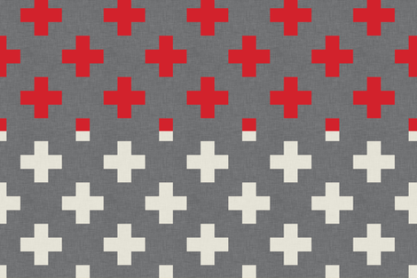 plus_one_red_and_white_full_yard fabric by holli_zollinger on Spoonflower - custom fabric