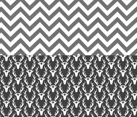 chevron_and_deer_head_full_yard fabric by holli_zollinger on Spoonflower - custom fabric