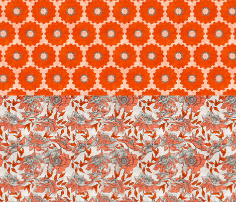 vintage_coral_and_summer_full_yard fabric by holli_zollinger on Spoonflower - custom fabric