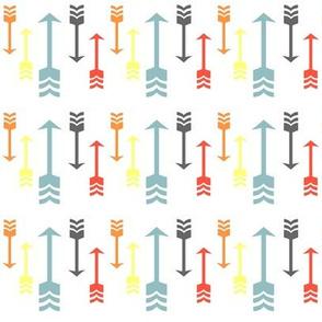 Colorful Fall Arrows - Aqua, Orange, Grey, Yellow, Red