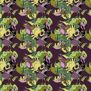Monsters Purple/yellow
