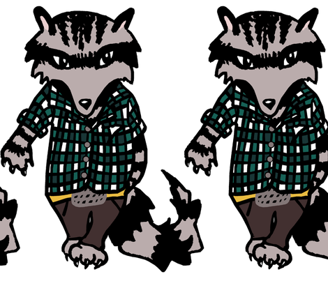 Raccoon Swagger II. fabric by pond_ripple on Spoonflower - custom fabric