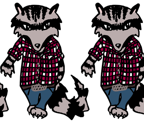 Raccoon Swagger fabric by pond_ripple on Spoonflower - custom fabric