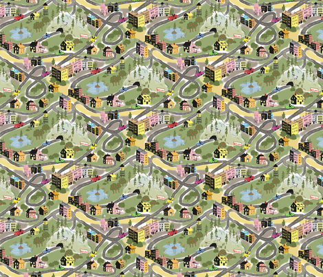 On the Road fabric by vinpauld on Spoonflower - custom fabric