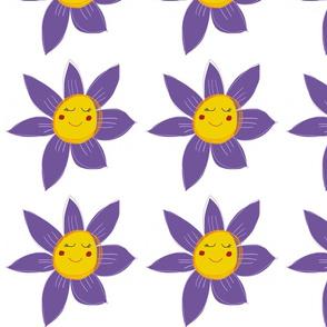 Purple Daisy flower pattern