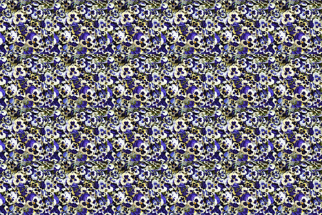 Purple Pansy Confetti fabric by larkspur_hill on Spoonflower - custom fabric