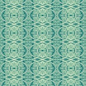 Leafy World Lace vertical stripe