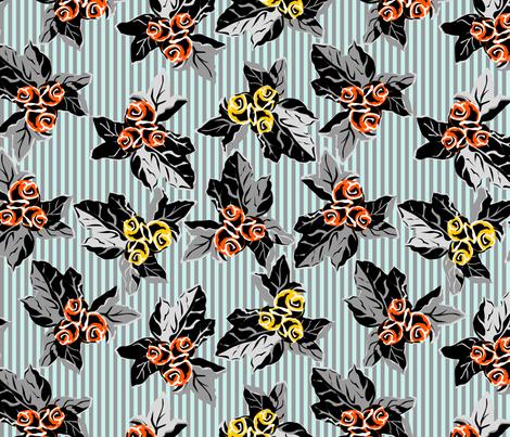 grandmas sofa meets folk art funk - a design across time - synergy0007 fabric by glimmericks on Spoonflower - custom fabric