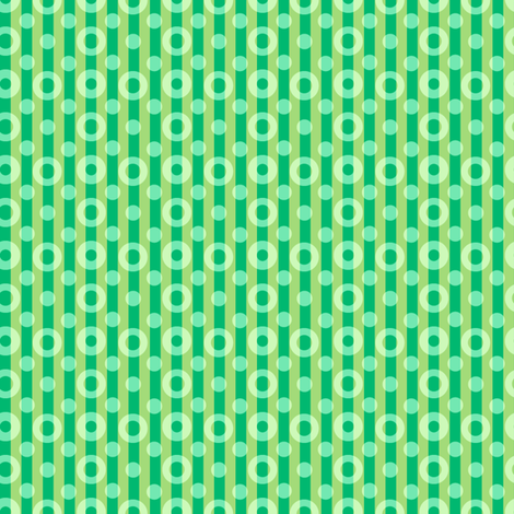 green serenity dotted stripes synergy0004 fabric by glimmericks on Spoonflower - custom fabric