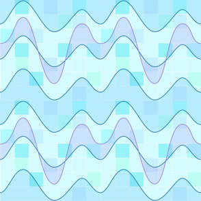 Sine Waves Blue