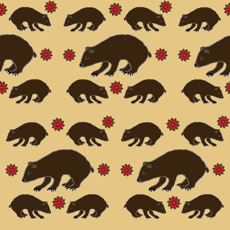 Bears and Flowers fabric by ravynscache on Spoonflower - custom fabric