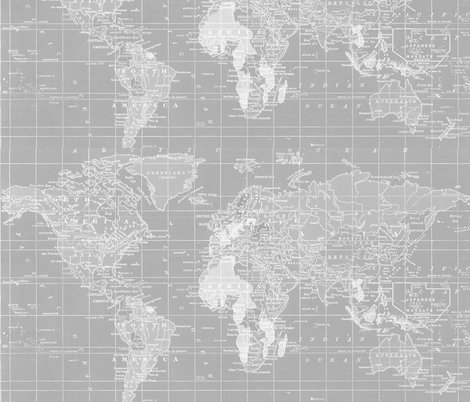 Minimalist grey and white map of the united states ed fabric fabriccroplighterversionshoppreview gumiabroncs Gallery