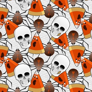 haunted skulls spiders and screaming candy corn ghosts - synergy0008