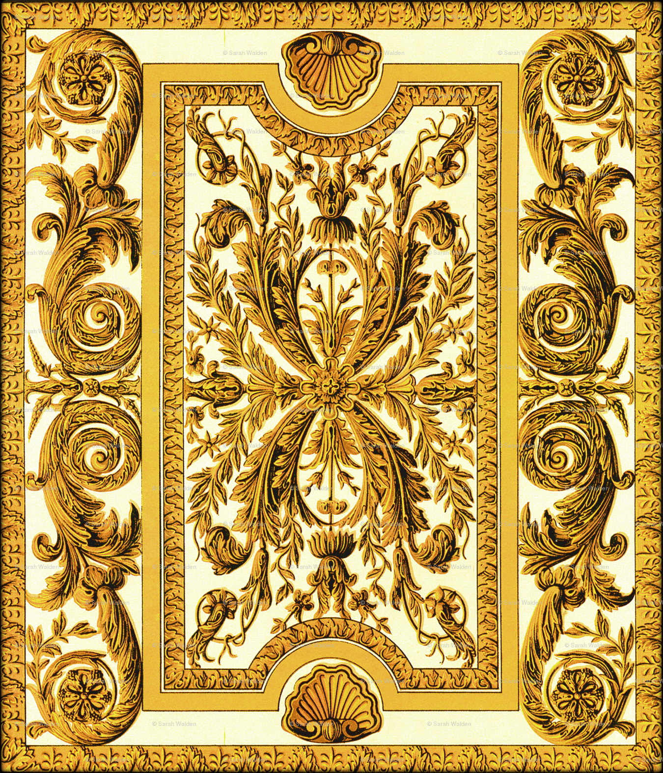 Go For Baroque ~ Gilt-y wallpaper - peacoquettedesigns - Spoonflower