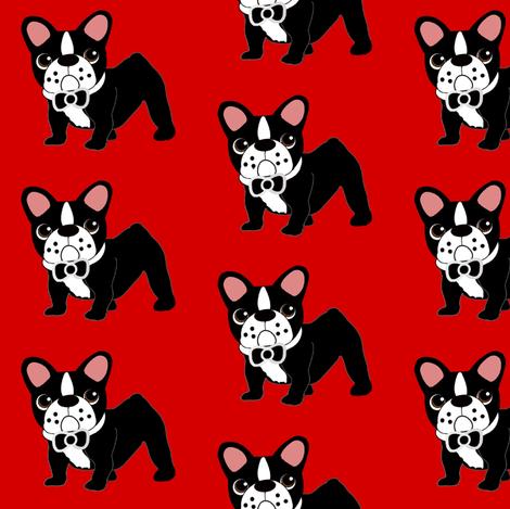 Bowtie Frenchie fabric by missyq on Spoonflower - custom fabric