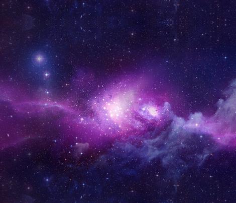 Galaxy party fabric maniac spoonflower for Spaceship fleece fabric