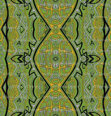 TAIFO 3b - Yellow green, mustard, grey and black