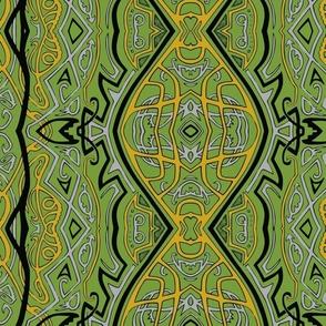 TAIFO 3b - Yellow green, mustard, grey and black