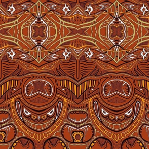 TAIFO 1a - rust, gold, yellow