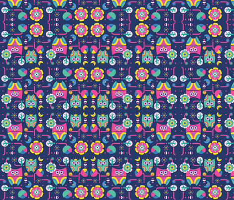 Owls love fabric by rachelee_design on Spoonflower - custom fabric