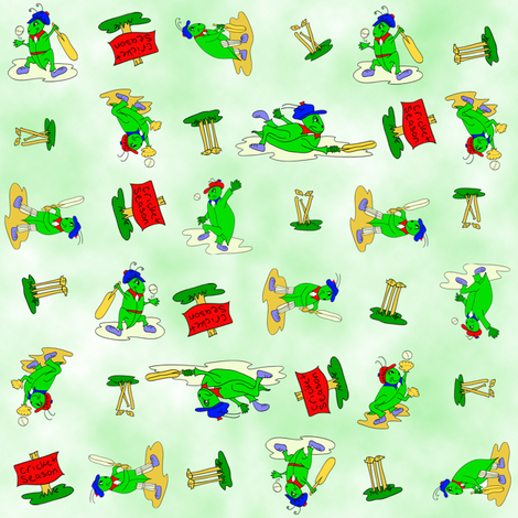 Cricket_Season fabric by bluewrendesigns on Spoonflower - custom fabric