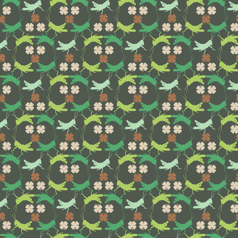 Irish Luck Crickets fabric by luhaddad on Spoonflower - custom fabric