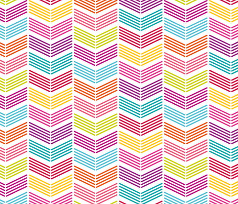 Bright Chevron fabric by happyprintsshop on Spoonflower - custom fabric