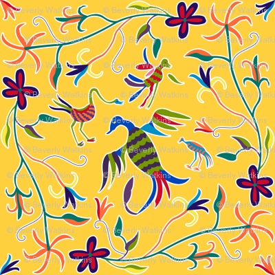 Otomi Birds_gold