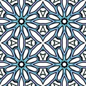Blue Snowflake Pattern