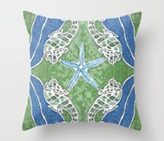 Green Seahorses & Kelp Painting Pattern