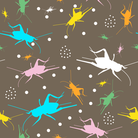Cricket Shuffle fabric by forgotten_fortune on Spoonflower - custom fabric