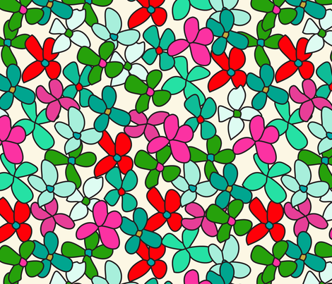 bouquet fabric by holli_zollinger on Spoonflower - custom fabric