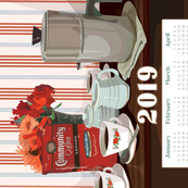 2019 Coffee Calendar Towel
