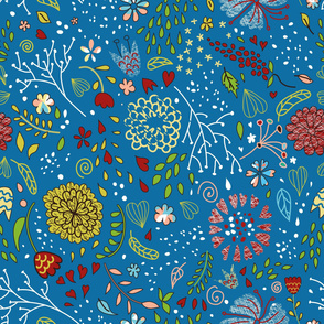 Stylish_vector_floral_pattern_with_cute_flowers