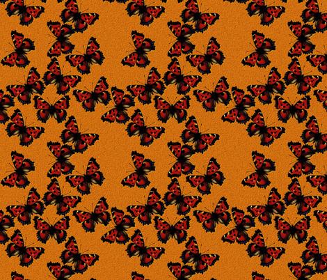 Nymphalis xanthomelas fabric by joancaronil on Spoonflower - custom fabric