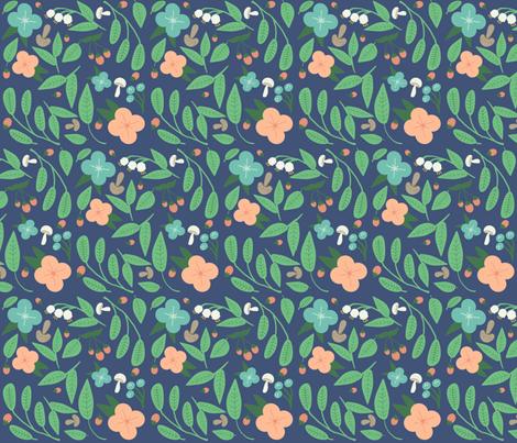 A Summer Wedding Blue fabric by heidikenney on Spoonflower - custom fabric