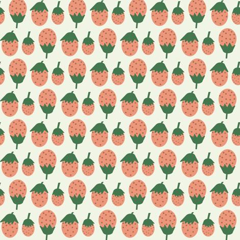 A Summer Wedding Strawberries fabric by heidikenney on Spoonflower - custom fabric