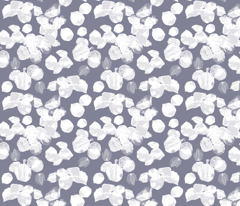 Cricket blossoms white fabric by weejock on Spoonflower - custom fabric