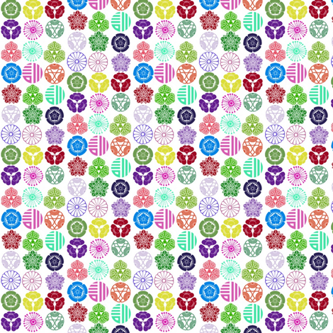 Round Floral Crest Stripes fabric by boris_thumbkin on Spoonflower - custom fabric