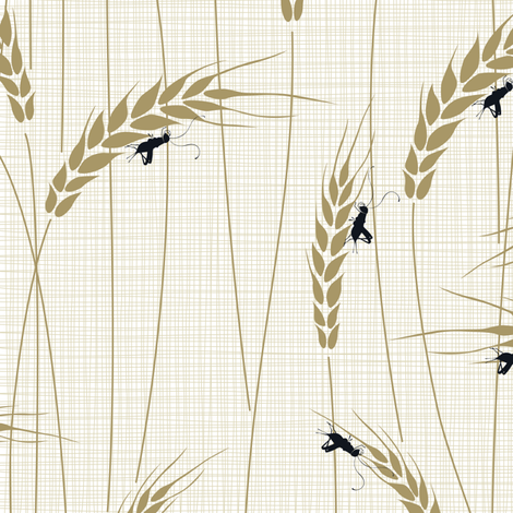 Singing Crickets in Julie's Field fabric by juliesfabrics on Spoonflower - custom fabric