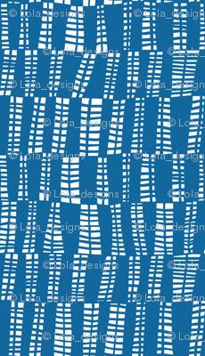 webs in blue
