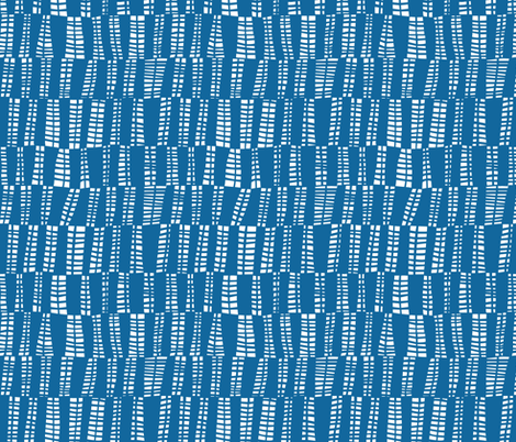 webs in blue fabric by lola_designs on Spoonflower - custom fabric