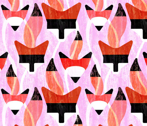 foxy fabric by melbity on Spoonflower - custom fabric