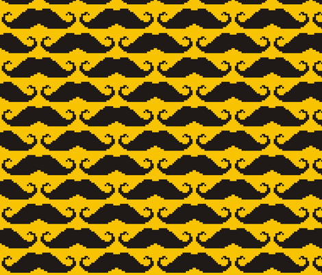 8-bit Moustache fabric by pennyroyal on Spoonflower - custom fabric