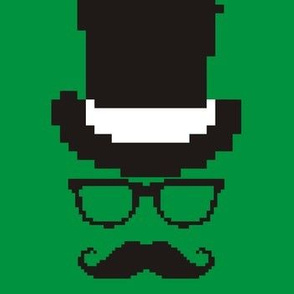 8-bit Hipster Green
