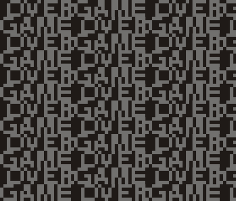 8-bit Game Over Grey fabric by smuk on Spoonflower - custom fabric