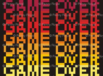 8-bit Game Over Firey